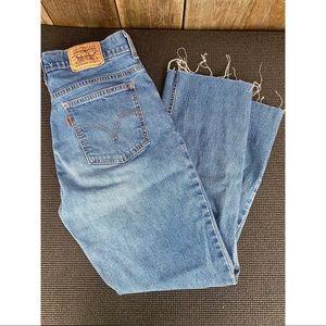 LEVI'S orange tab raw ankle hem denim jeans